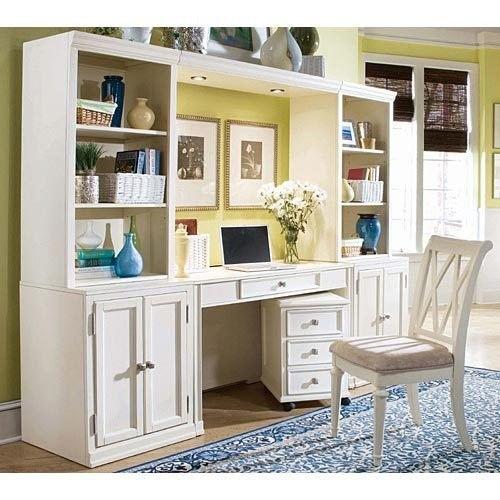 American Drew Camden Buttermilk Desk Wall Unit Ad 920 595w Desk