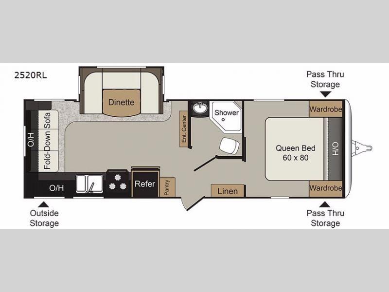 New 2018 Keystone Rv Passport 2520rl Grand Touring Travel Trailer At General Rv Wixom Mi 155321 Floor Plans Rv Floor Plans Travel Trailer
