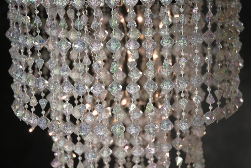Elegantly Illuminate A Room Or Special Event With This Battery Operated Led Three Tiered Acrylic Crystal Chandelier It Hangs 15