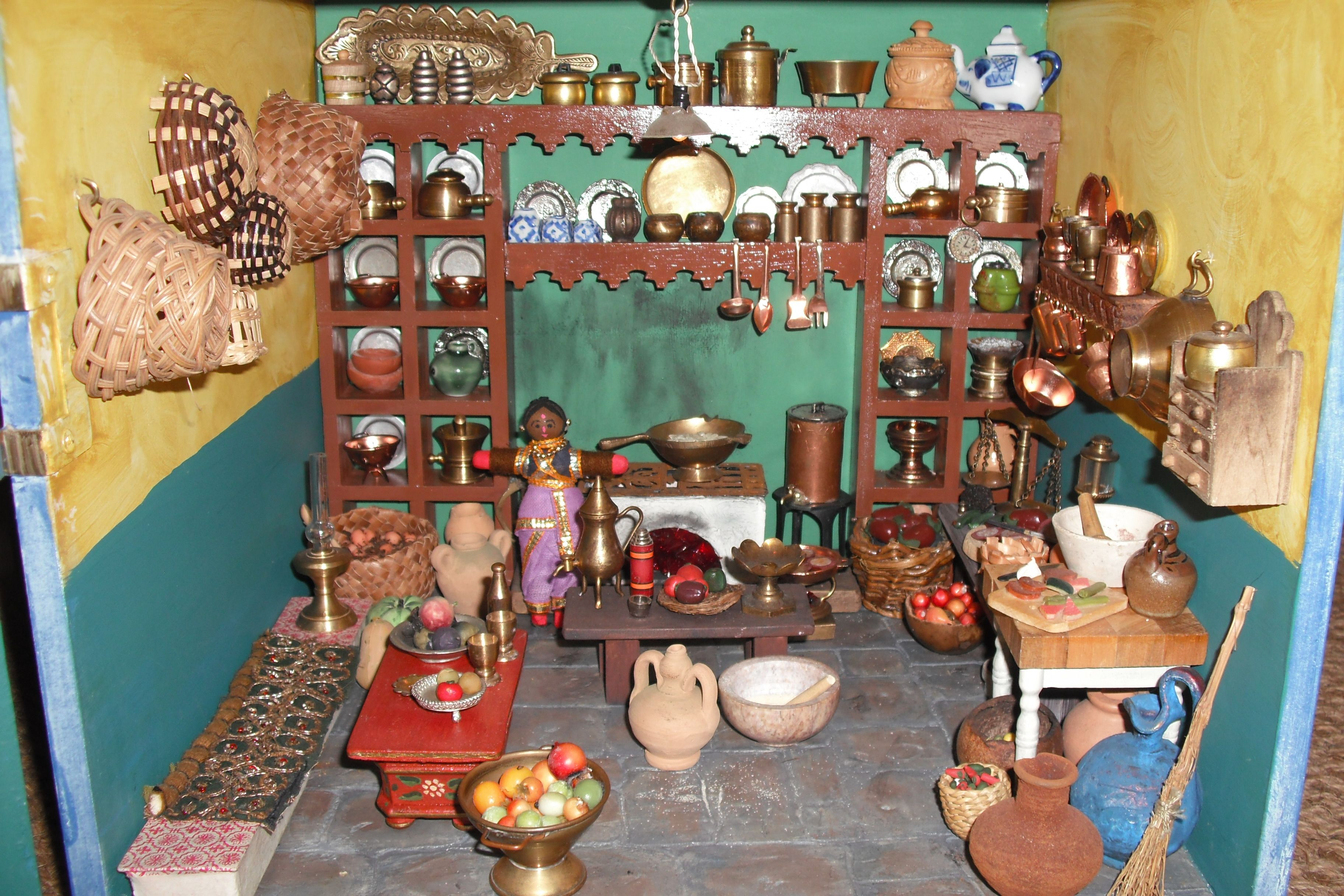 Kitchen Of Indian Dolls House By Joan Joyce