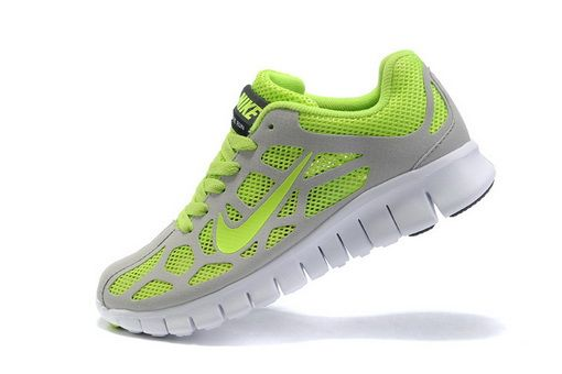 super popular da1d0 1256c Grey Green Womens Nike Free Run +3