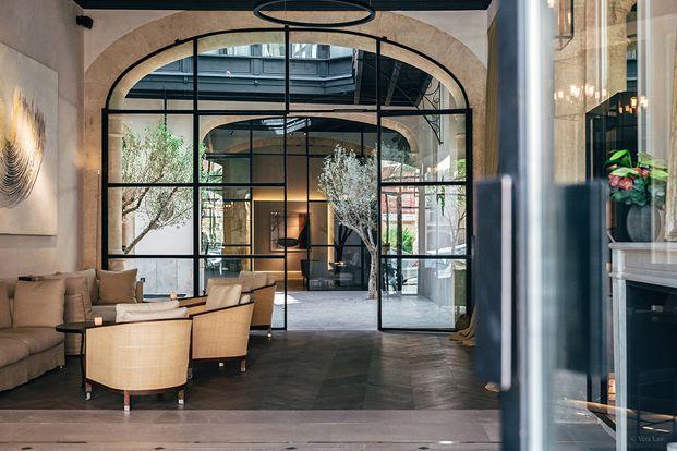 patio vestibulo hotel sant francesc en mallorca diseno en palma diariodesign