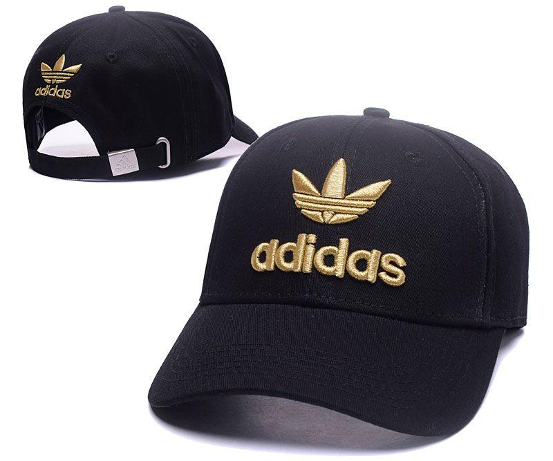 Men's / Women's Adidas Tre-Foil Logo Adjustable Curved Dad Hat - Black / Red