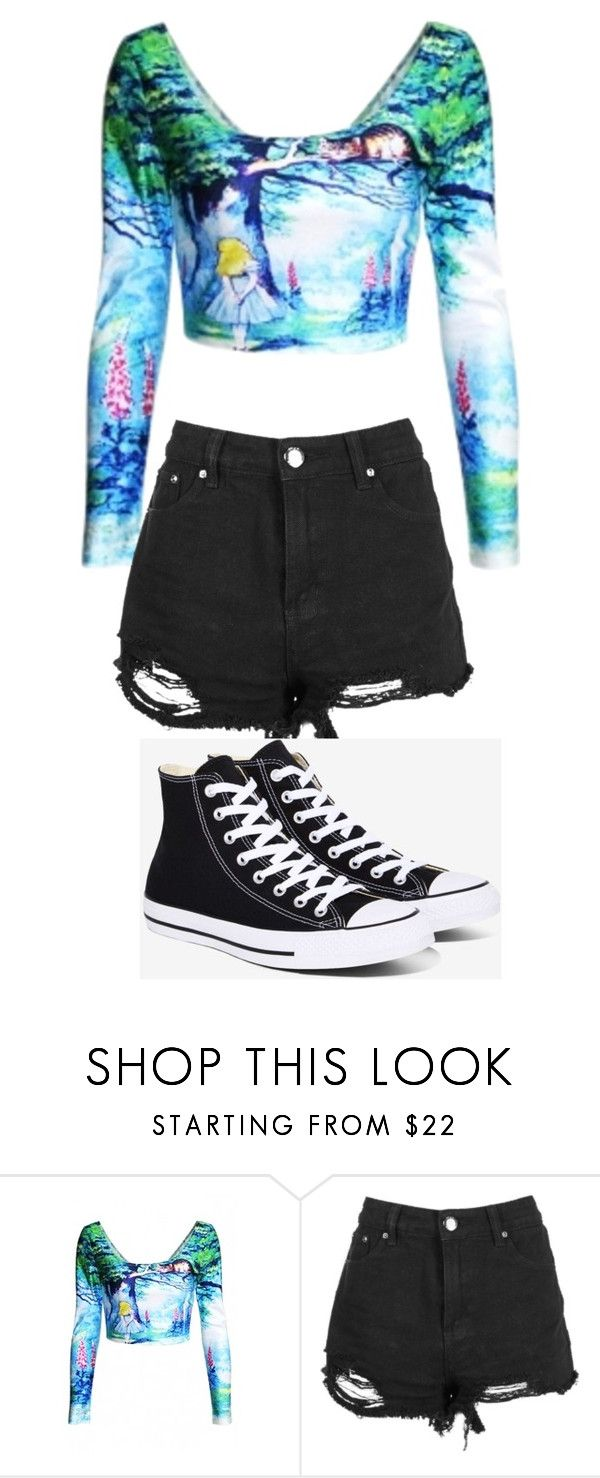 """""""Alice and Wonderland Outfit"""" by mdeangelo on Polyvore featuring Converse"""