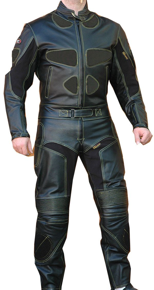 Perrini S Poison 2 Pc Motorcycle Cow Hide Genuine Leather Suit Racing Full Black Motorcycle Leathers Suit Motorcycle Suit Motorcycle Leather