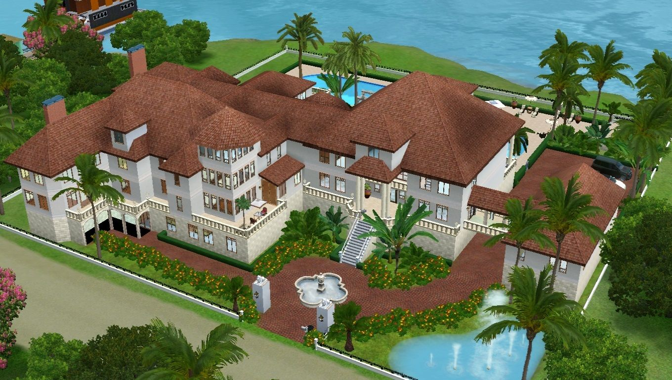 Mod The Sims Celebrity Mansion No Cc Mansions Celebrity Mansions Sims House