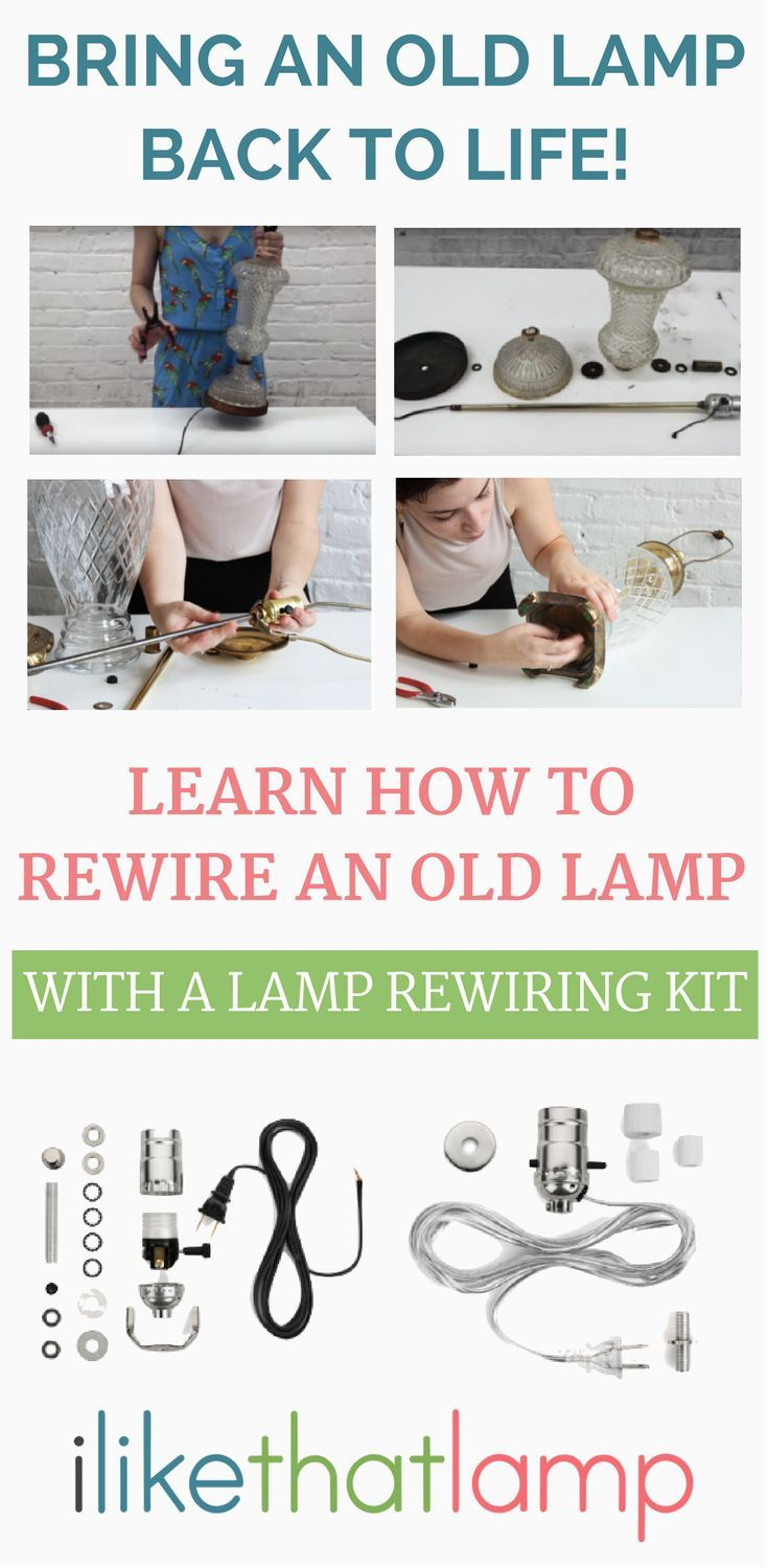 How To Rewire A Lamp Easy Diy Projects Craft And Helpful Hints An Old