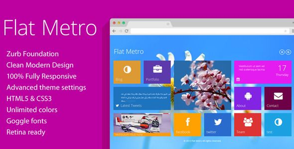 Theme Flat Metro 1.8.5 – Responsive WordPress Theme | Download ...