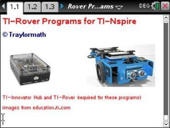 Easy-to-Use TI-Nspire TI-Rover Programs | TI-Nspire stuff