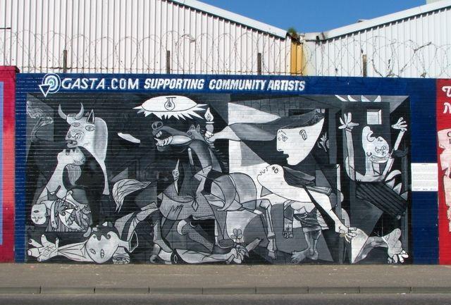 Art print POSTER The Peace Wall Running Through West Belfast