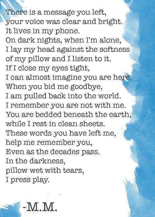 I miss you mom ( I miss you dad, Miss you dad, Miss you mom