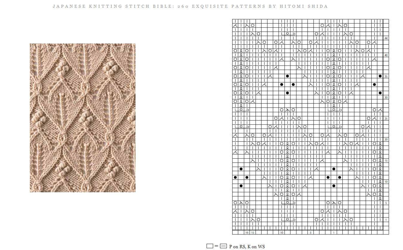 Japanese Knitting Stitch Bible With Images Knitting Stitches