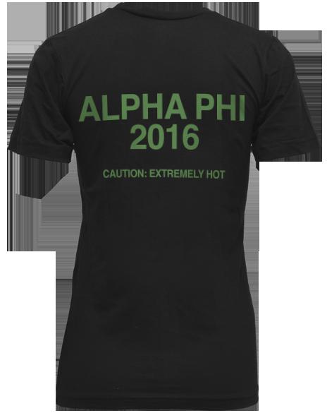 Alpha Phi Starbucks VNeck Shirt Back Alpha phi apparel