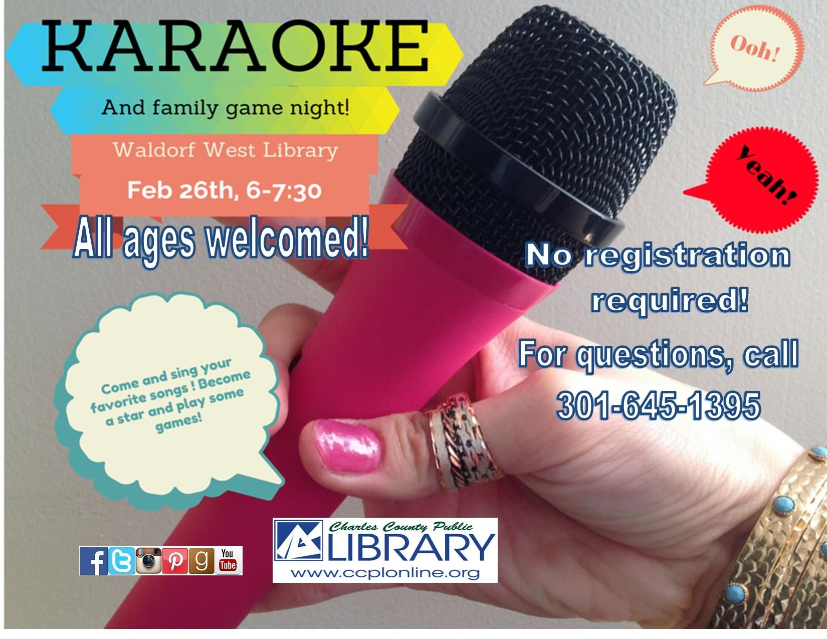 Join us @ Waldorf West and sing your heart out with Karaoke!