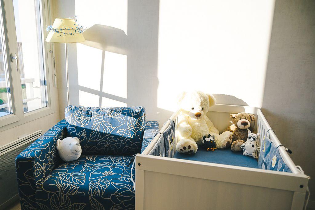 La Chambre De Mon Bebe En Bleu Fonce Et Jaune Avec Images