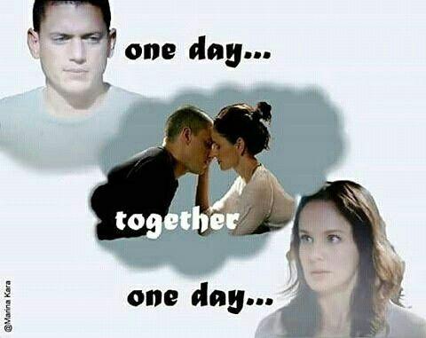 Micheal Scofield and Sara