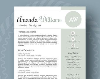Stylish Resume Template - the Sophie | Modern resume template ...