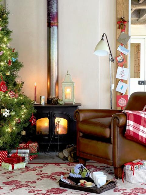 Cozy Christmas Living Room Christmas Pinterest Christmas - Charm of vintage christmas – 25 fascinating ideas