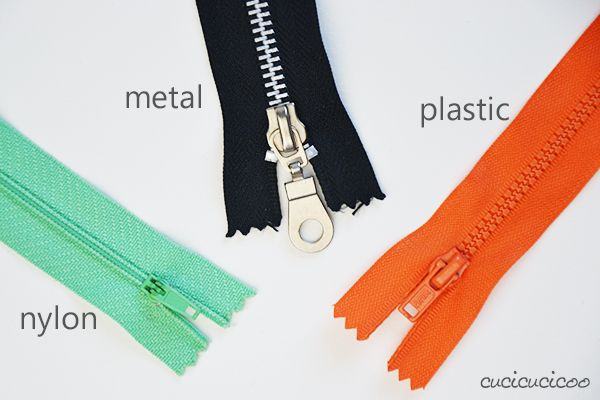 How to sew an exposed zipper: types of zippers (nylon, metal, plastic). + TUTORIAL pouch