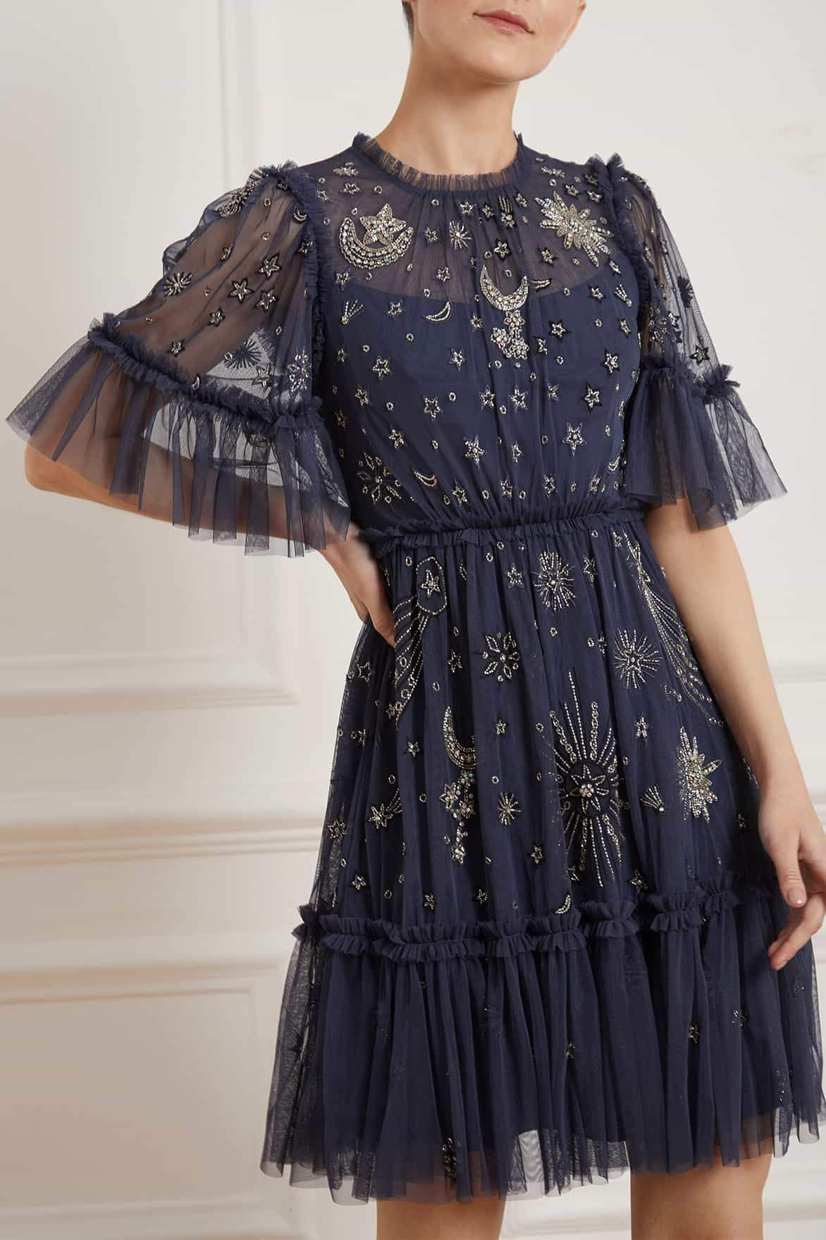 HS20 New Season Ether Mini Dress in Midnight Blue
