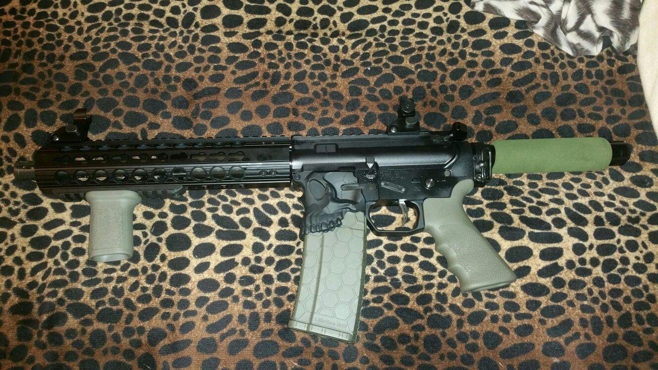 My custom 300aac300blk pistol 105 pmahbar