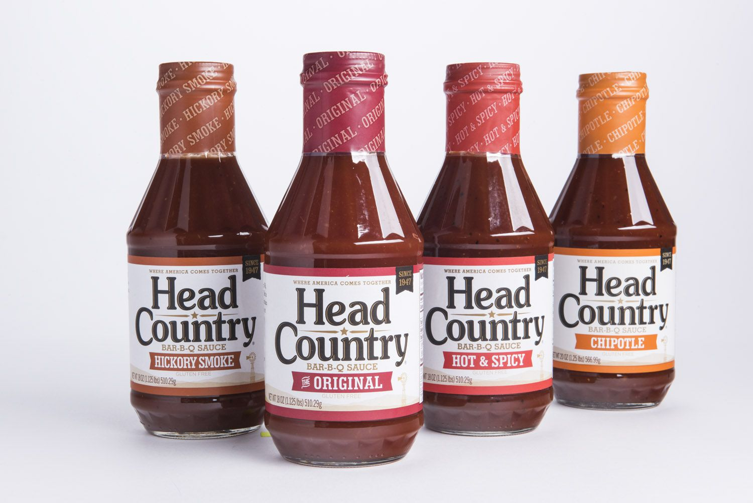 Original, Hickory Smoke, Hot & Spicy, and Chipotle ... This is Head Country. #headcountrybbq #bbq #grilling