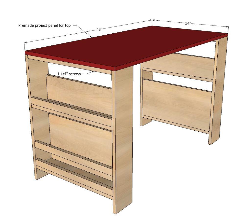Kids Storage Leg Desk Diy Kids Desk Desk Furniture Plans Art Desk For Kids
