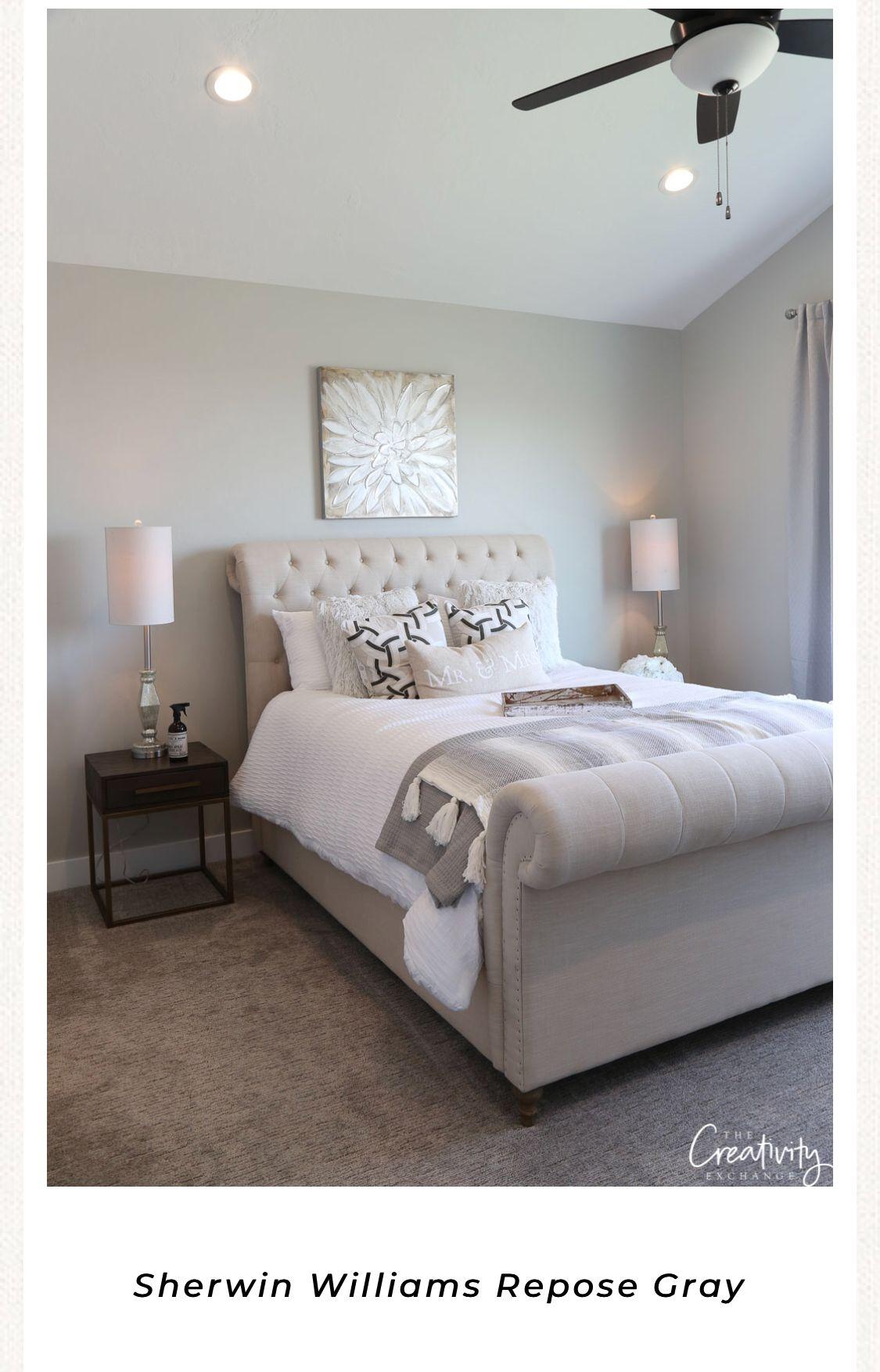 sw  repose gray  restoration hardware bedroom home bedroom