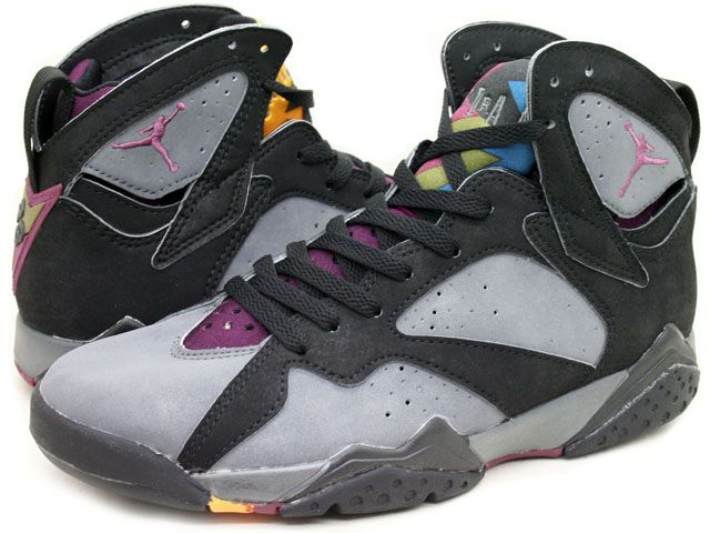 Air Jordan 7 VII Bordeaux Black Light Graphite Bordeaux Shoes is yet  another to the collection that has predominately white colorway.