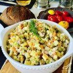 Olivier Salad - has ham in it #olivierrussischersalat