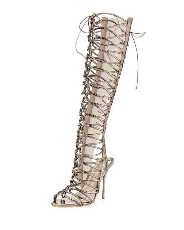 Sophia Webster - Clementine Strappy To-the-Knee Gladiator Sandal Boots