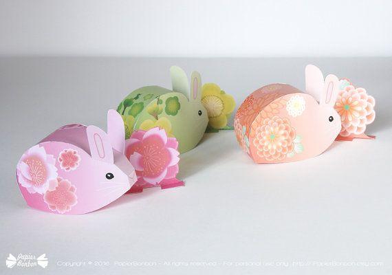 Easter bunny favor box printable 3 cute sakura cherry blossom easter bunny favor box printable 3 cute sakura cherry blossom bunnies rabbits negle Image collections