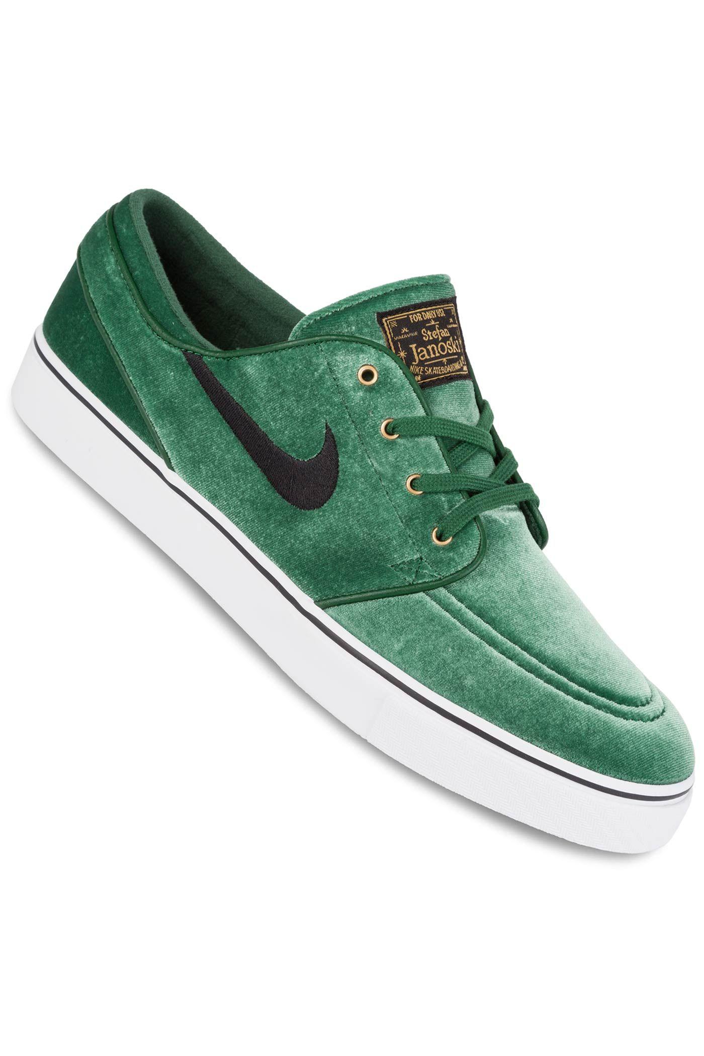 Nike SB Zoom Stefan Janoski Premium TXT Mens Green