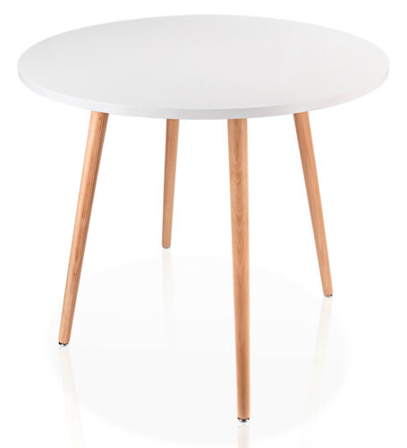 Coffee Table White Round Top Kitchen Dining Table With 4 Wood Legs Tea Table Ebay Dining Table In Kitchen Coffee Table White White Small Table