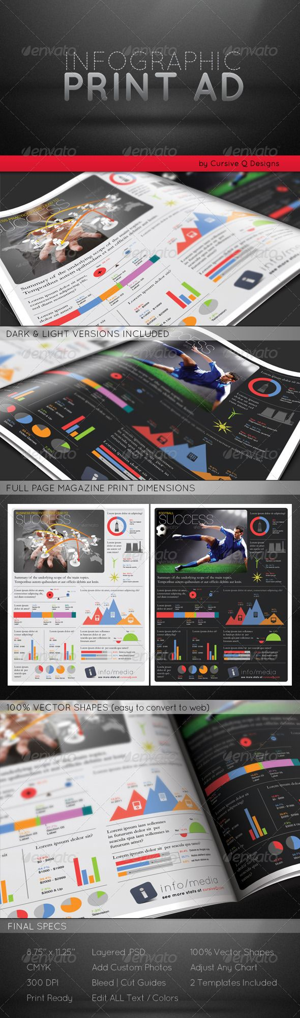 infographic print ad template other colors and be unique infographic print ad template here is an unique way to present your next magazine advertisement