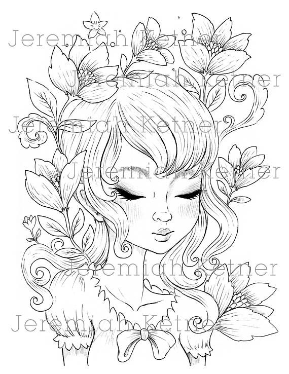 Spring Love - Coloring Page | Páginas para colorear, Colorear y ...