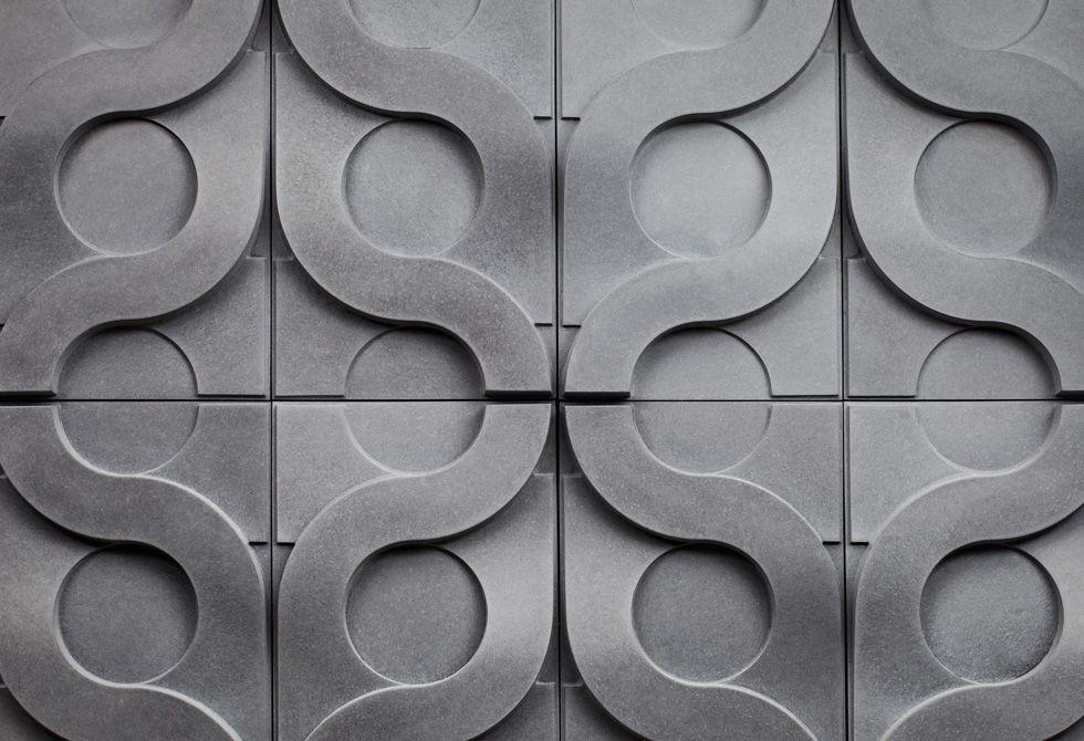 Mystile Vine Concrete Wall Tile 3d Wall Tiles Concrete Tiles Concrete Wall
