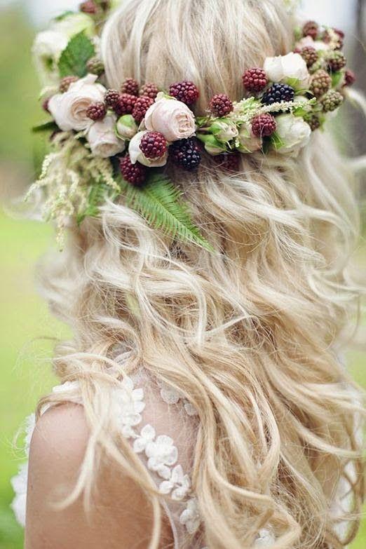 Coronas de flores para tu pelo