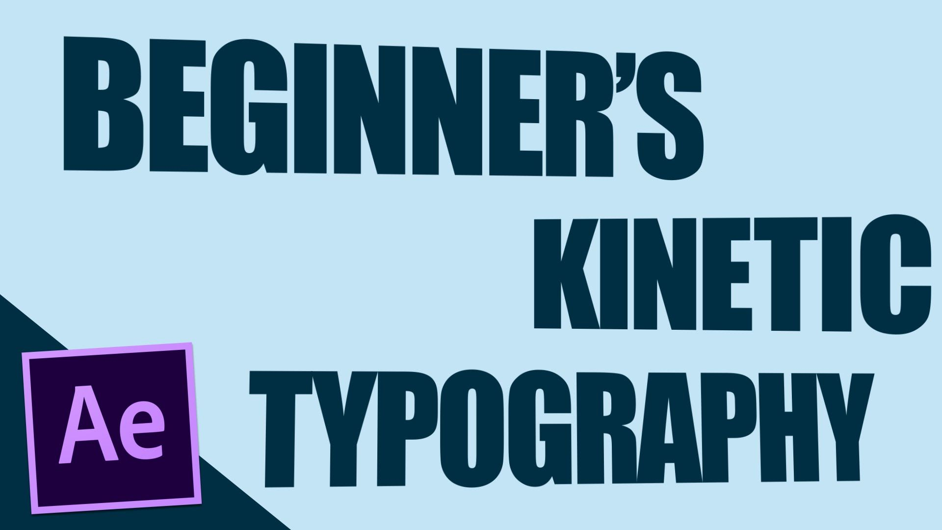 Beginners kinetic typography after effects tutorial 2d beginners kinetic typography after effects tutorial baditri Image collections