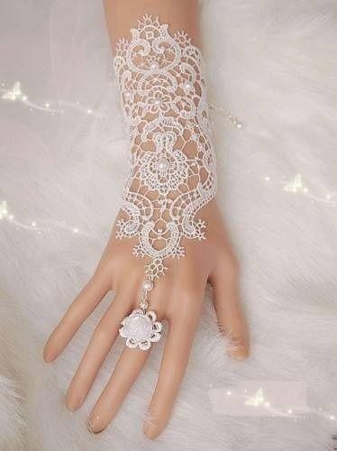 gans de mariage sans gants en dentelle