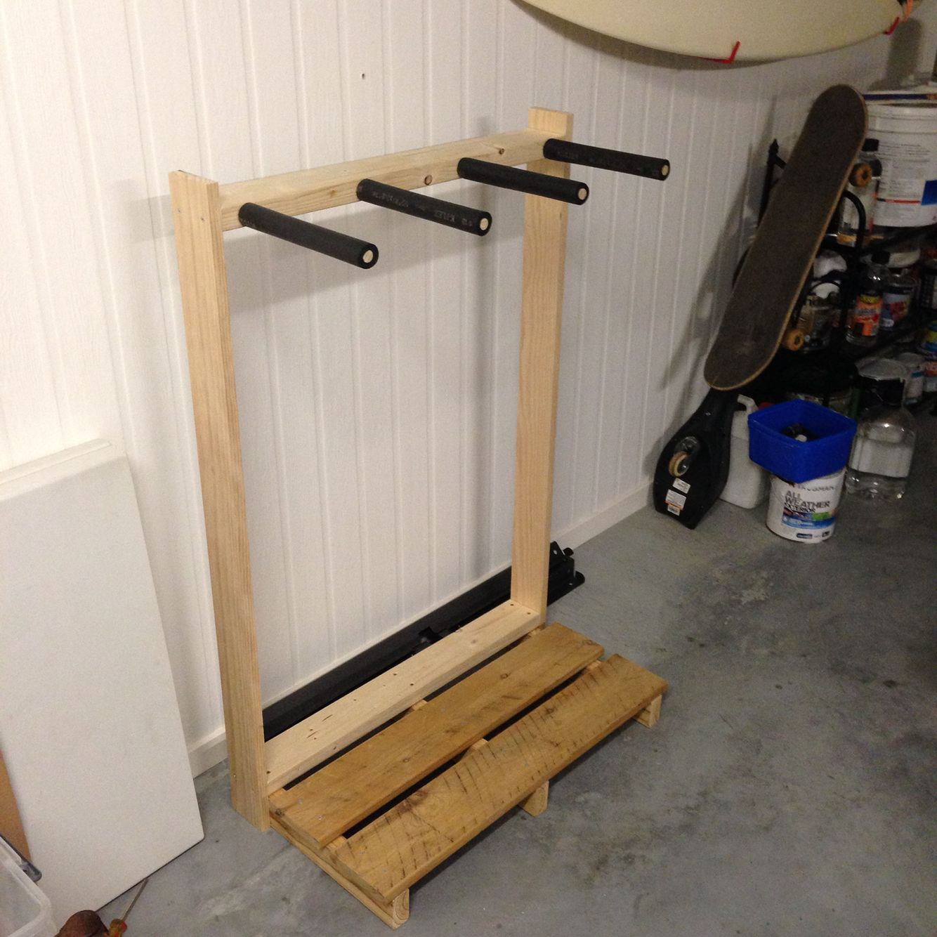 Pallet Surfboard Rack An Easy Project That Will Help Protect Your Boards And Organise Them