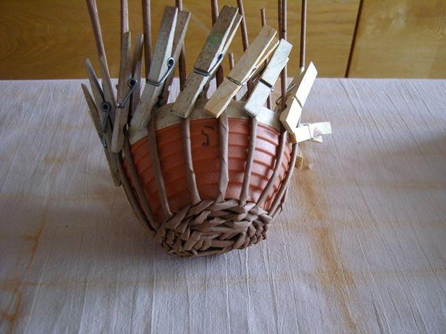 Postup na pletenie sliepky 3 - opleteme misku