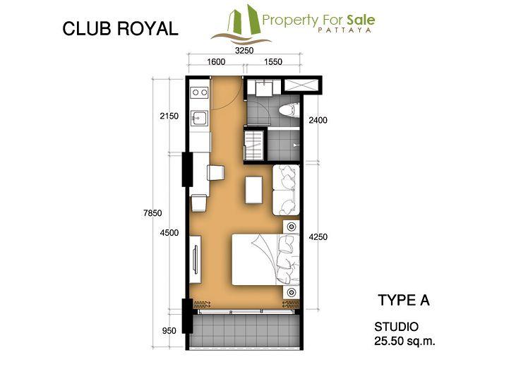 Club Royal Condo Typea 25 5sqm Jpg 731 520 Condo Floor Plans Condo Design Condo Interior Design