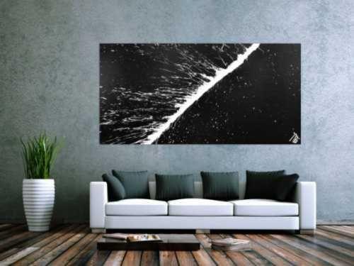 minimalistisches acrylgem lde abstrakt moderne kunst schwarz wei kunstwerke abstrakte kunst. Black Bedroom Furniture Sets. Home Design Ideas