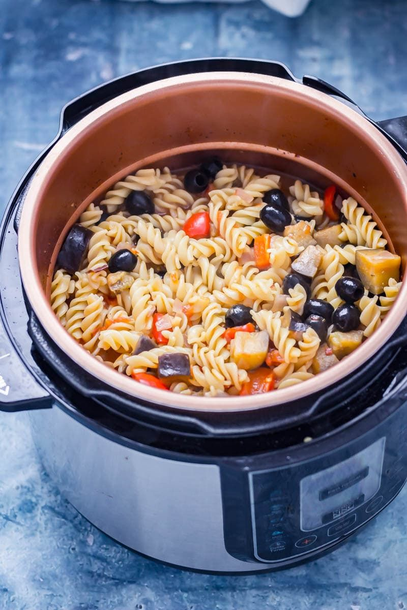 this pressure cooker pasta is so simple and is full of