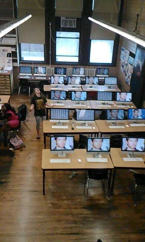 """Photo of """"My friend did this to all of the school computers. She called it the Mishapocal…"""