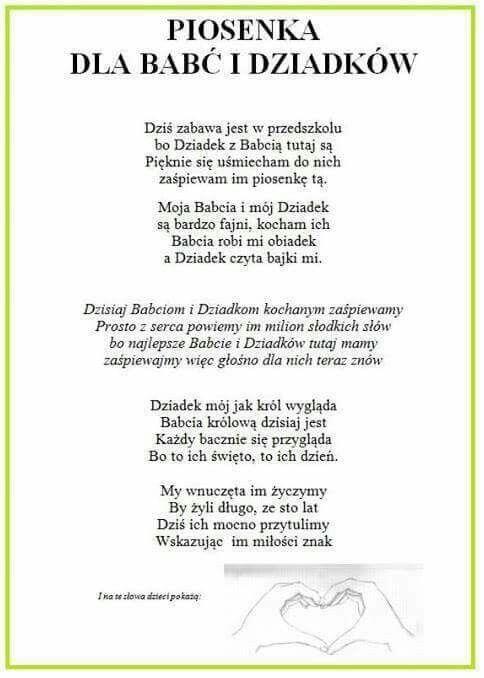 Pin By Irena Dworzanczyk On Babcia I Dziadek Education Kindergarten Motto