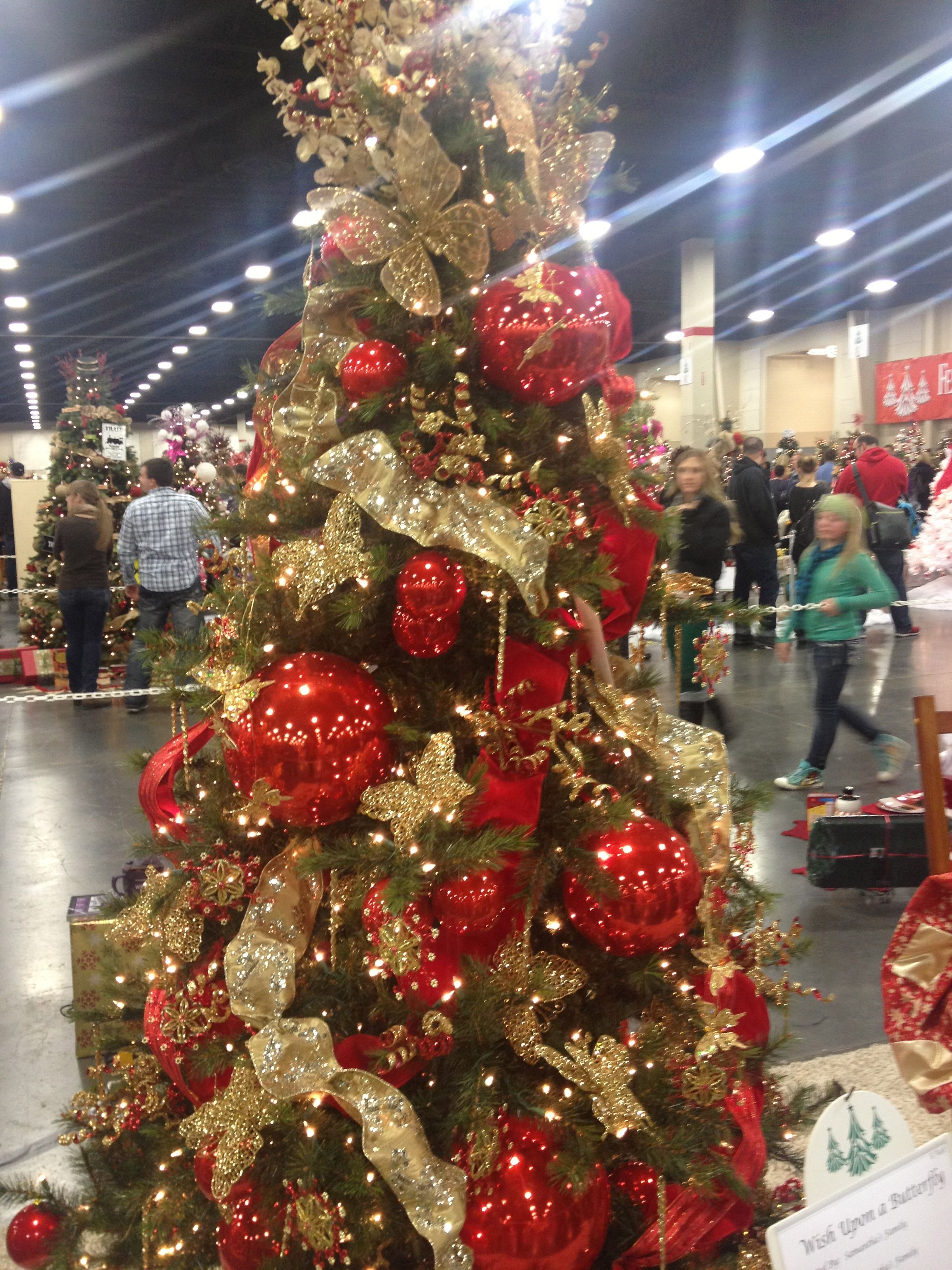 Glitzy Butterfly Christmas Tree From The Utah Festival Of Trees