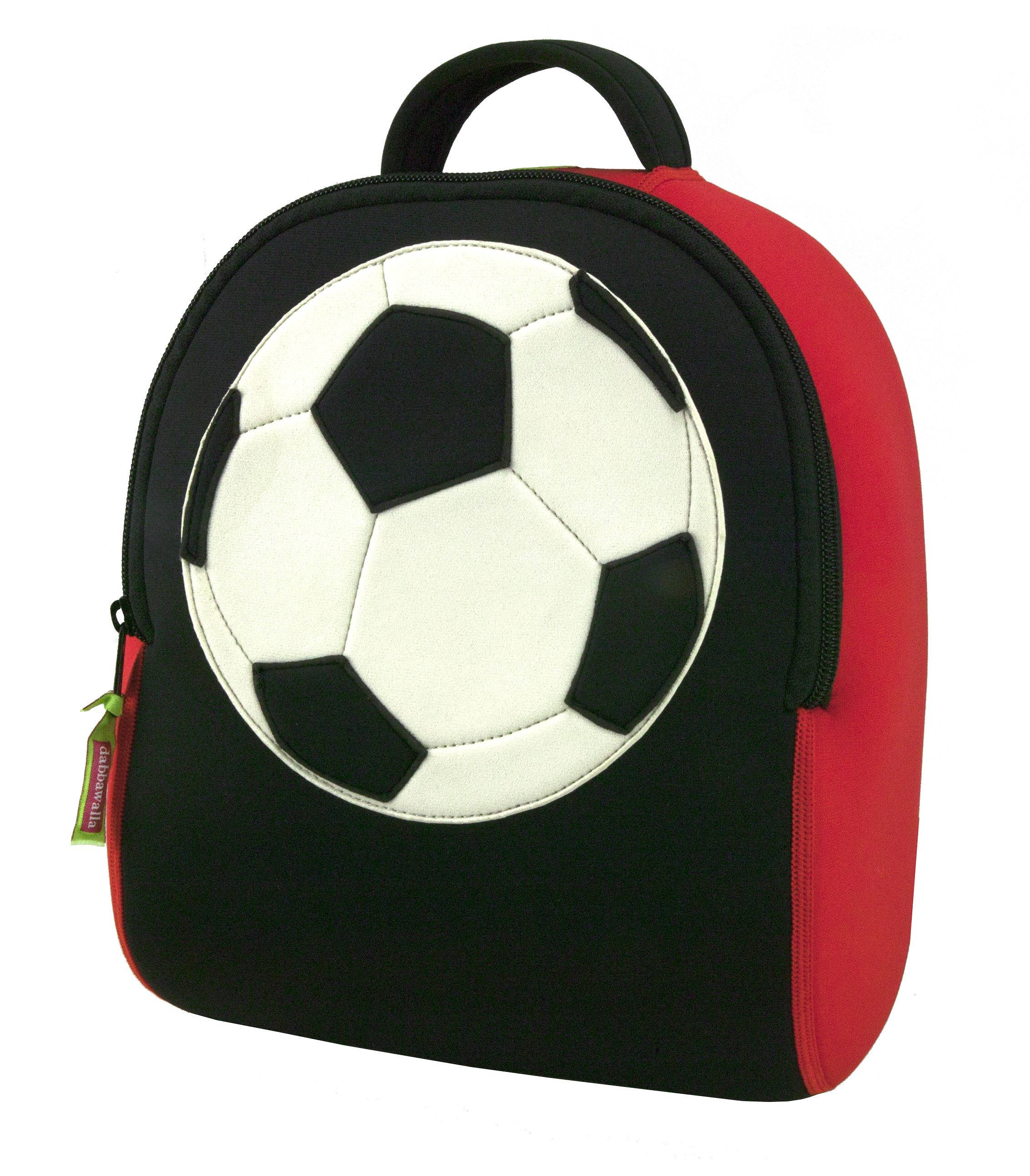 5801e99370 This soccer themed preschool backpack is a game stopper that kids will love  for its bright
