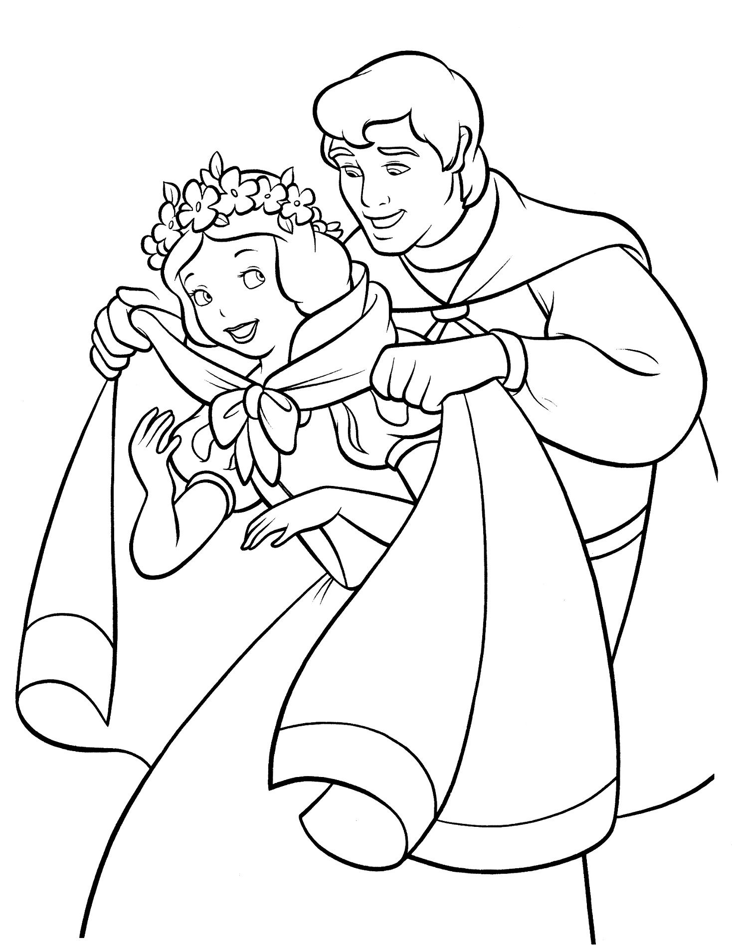 Snow White Color Pages to Print Snow white coloring